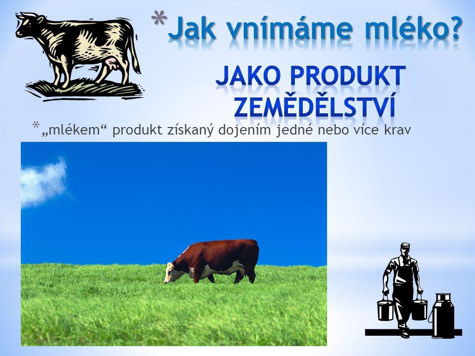 Jako Produkt zemědělství