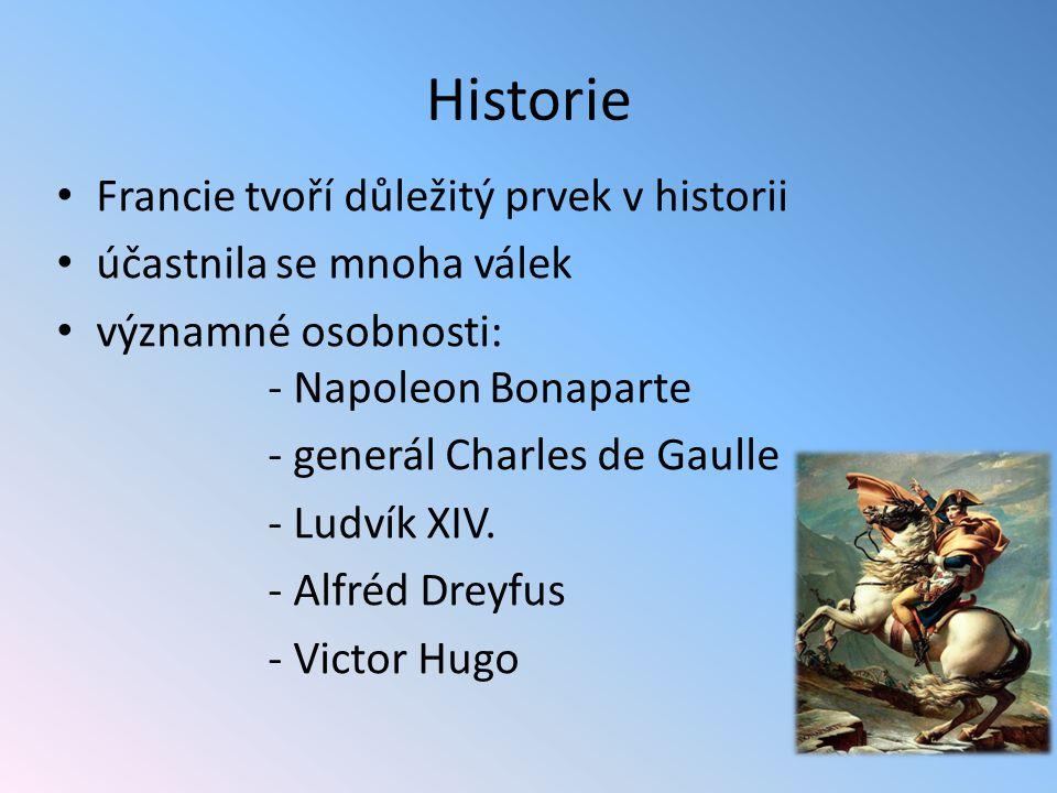 Historie Francie tvoří důležitý prvek v historii