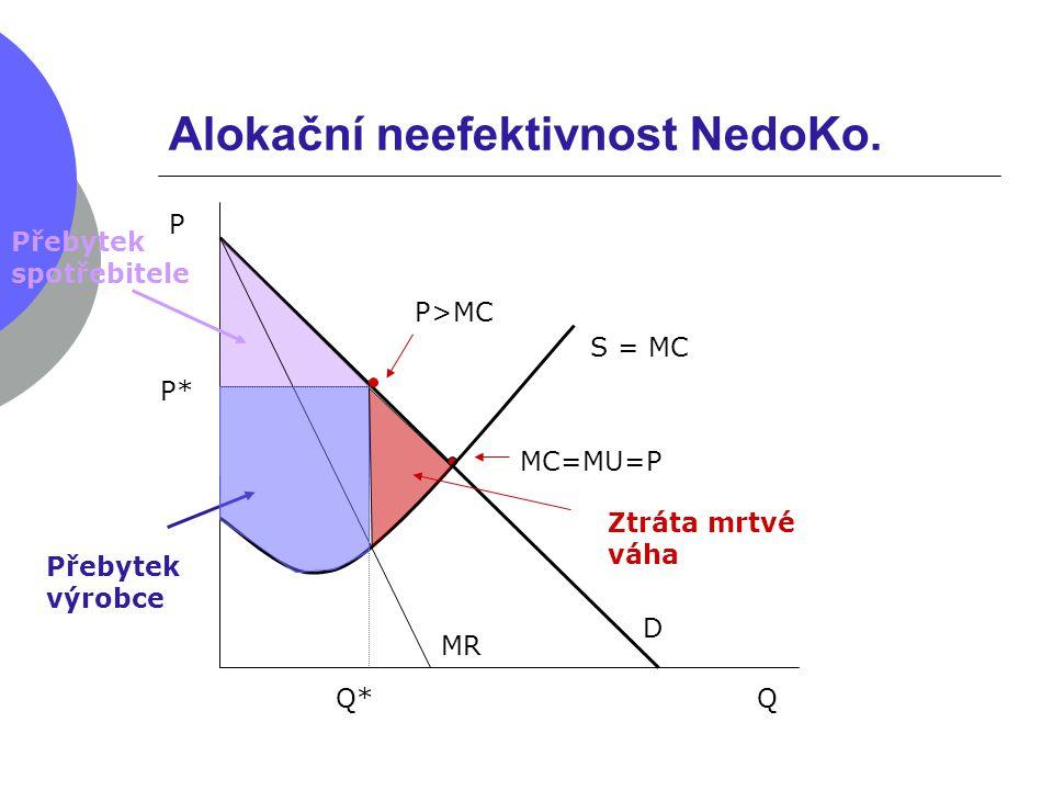Alokační neefektivnost NedoKo.