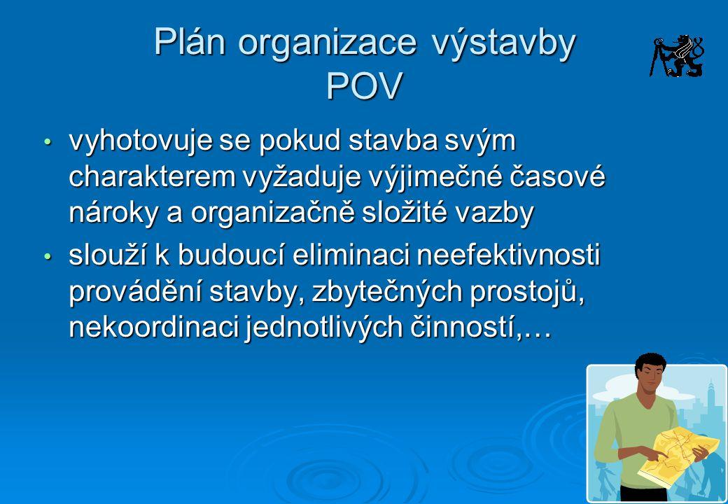 Plán organizace výstavby POV