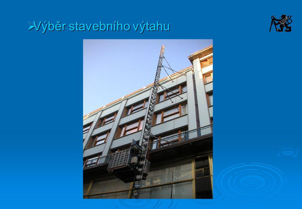 Výběr stavebního výtahu