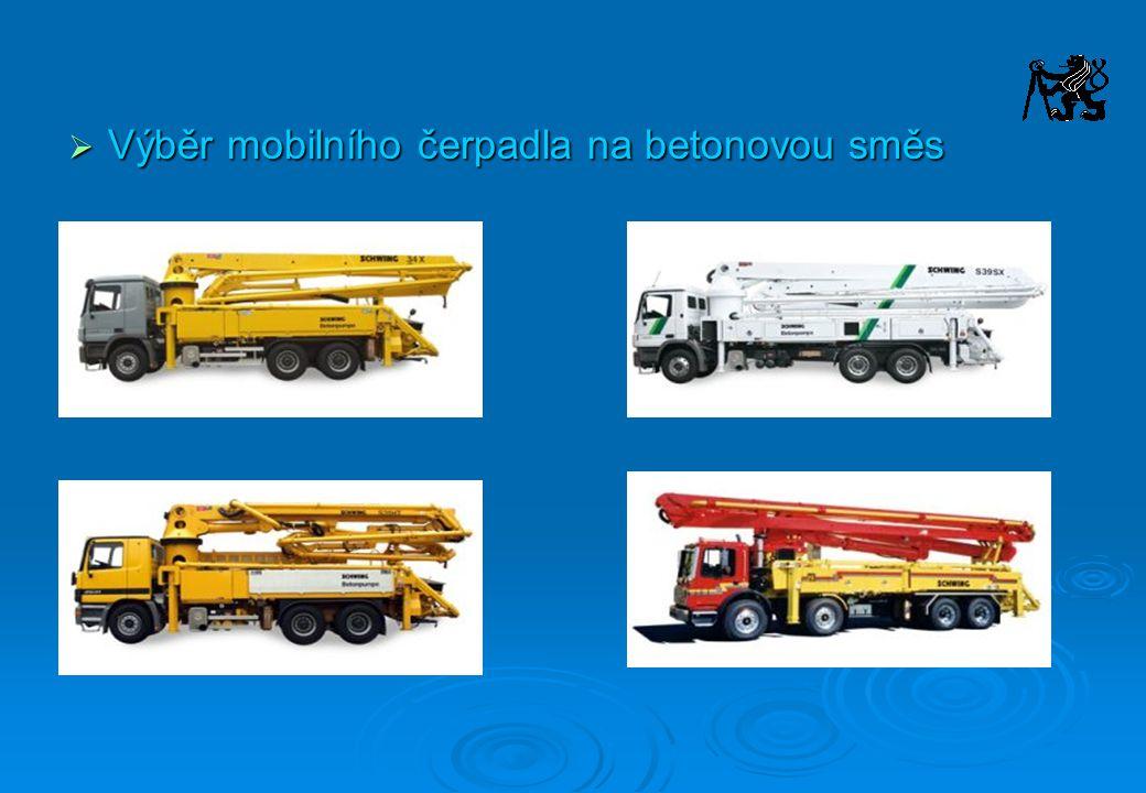 Výběr mobilního čerpadla na betonovou směs
