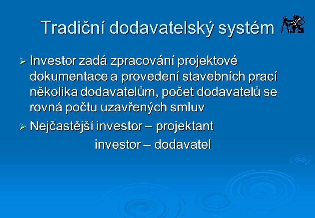 Tradiční dodavatelský systém