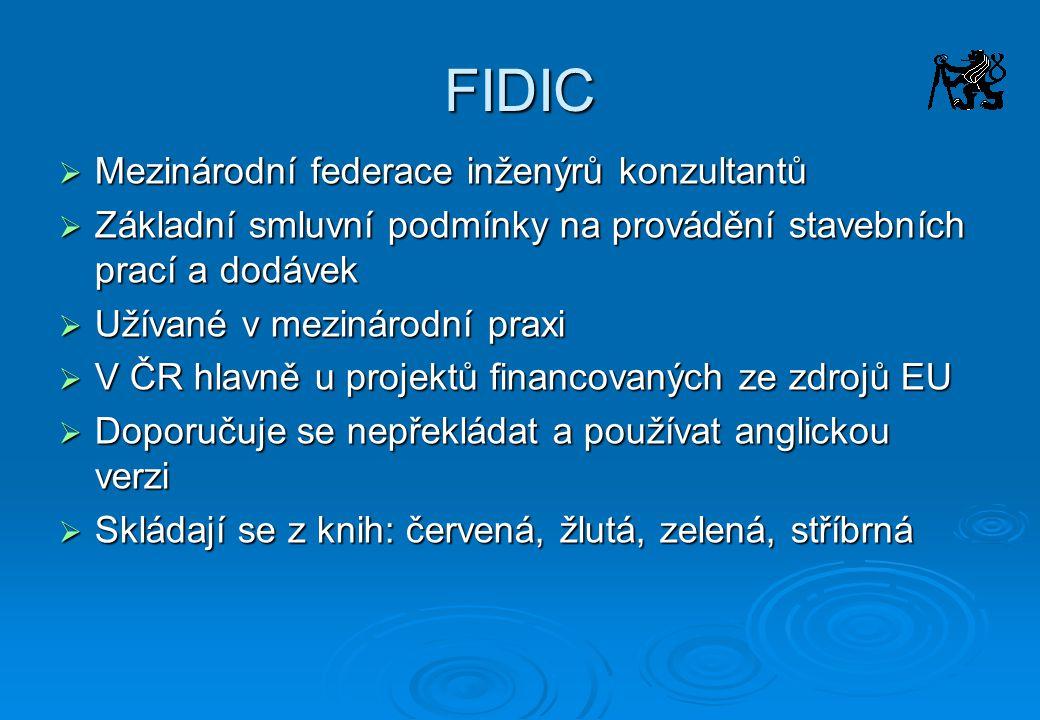 FIDIC Mezinárodní federace inženýrů konzultantů