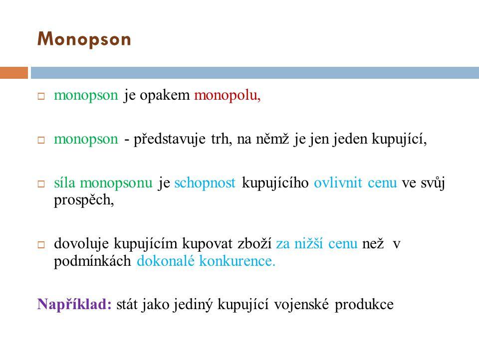 Monopson monopson je opakem monopolu,