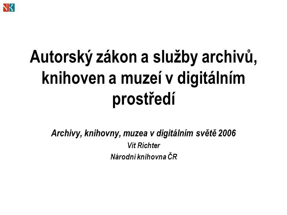 Archivy, knihovny, muzea v digitálním světě 2006