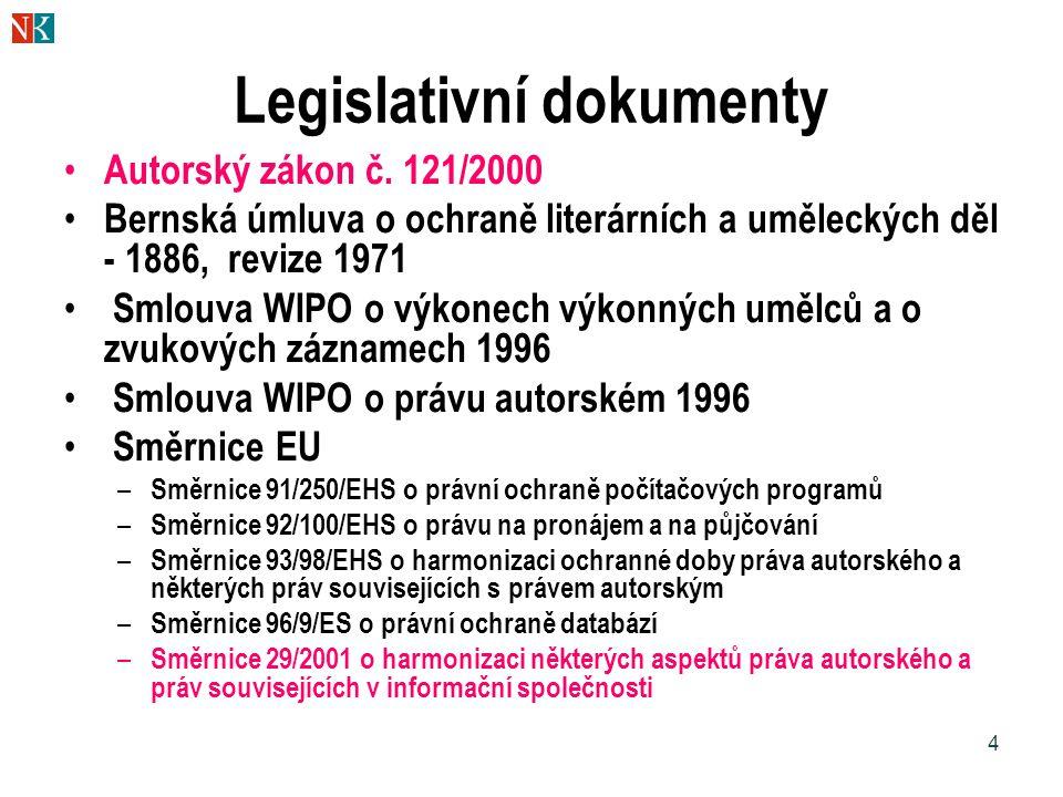 Legislativní dokumenty