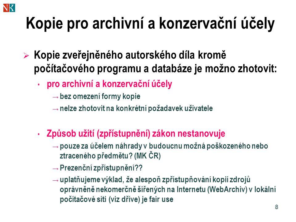 Kopie pro archivní a konzervační účely