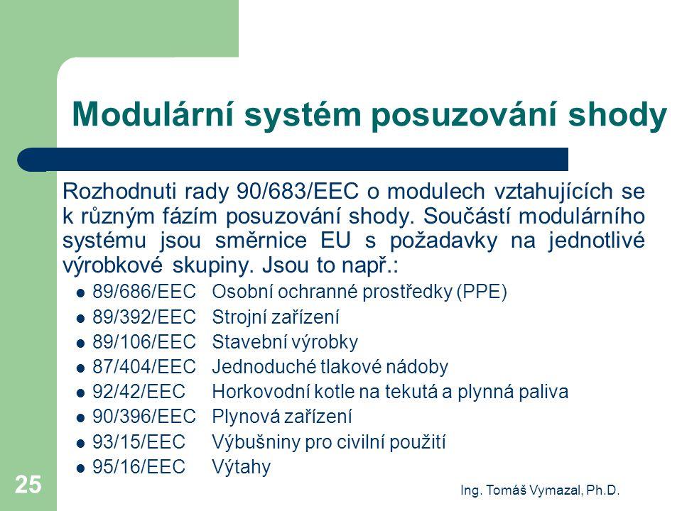 Modulární systém posuzování shody