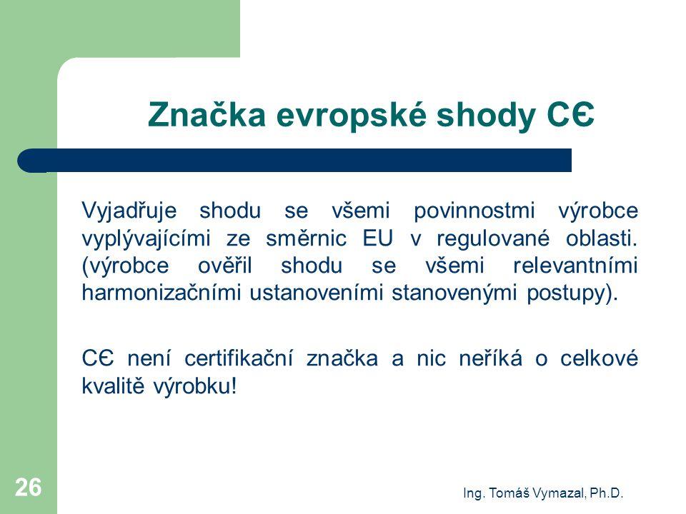 Značka evropské shody CЄ