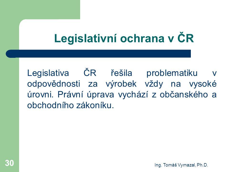 Legislativní ochrana v ČR