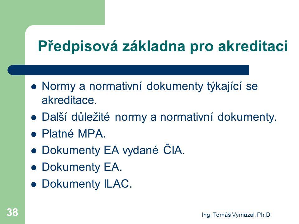 Předpisová základna pro akreditaci