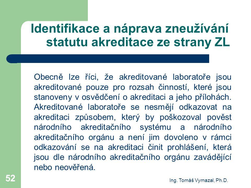 Identifikace a náprava zneužívání statutu akreditace ze strany ZL