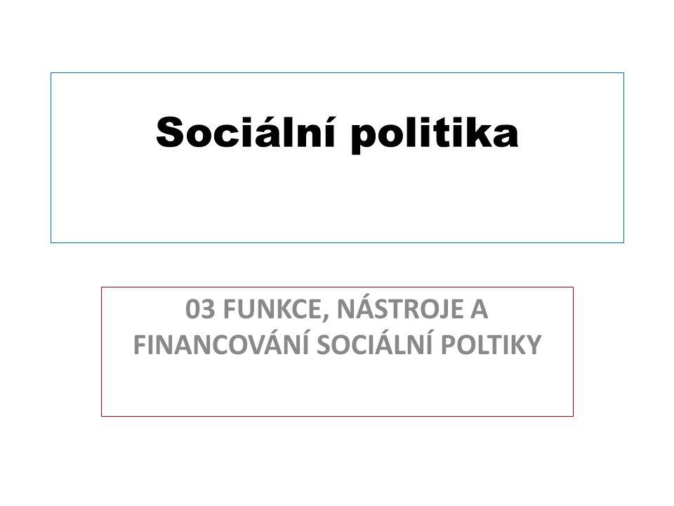 03 FUNKCE, NÁSTROJE A FINANCOVÁNÍ SOCIÁLNÍ POLTIKY