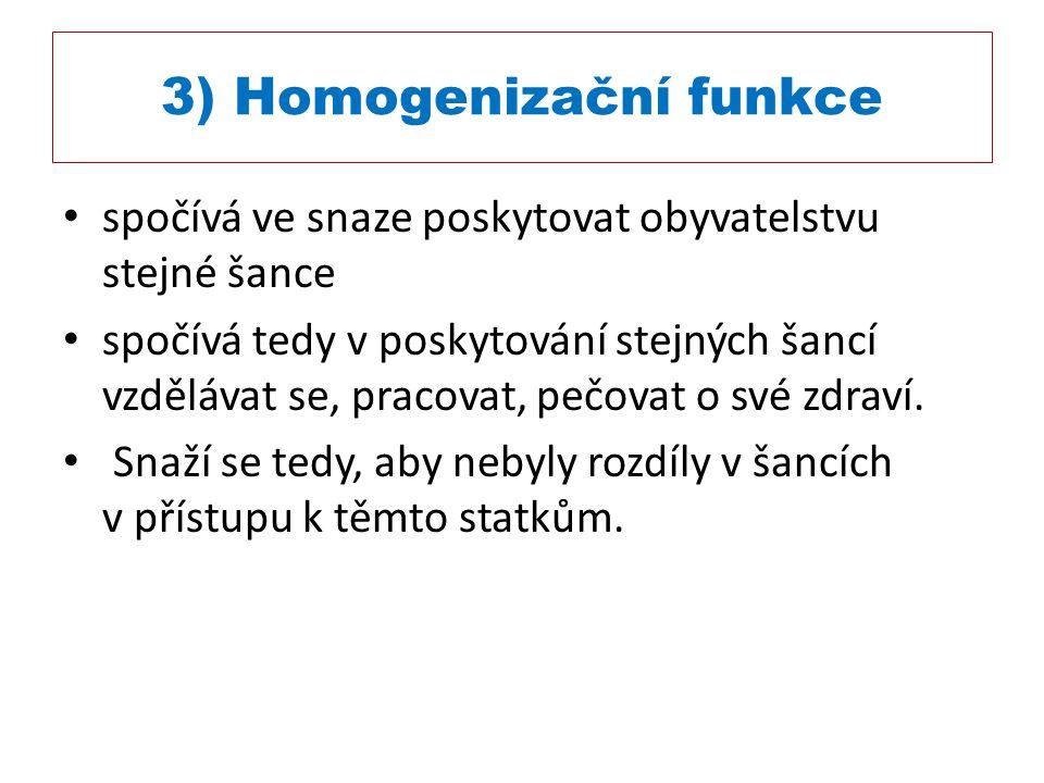 3) Homogenizační funkce