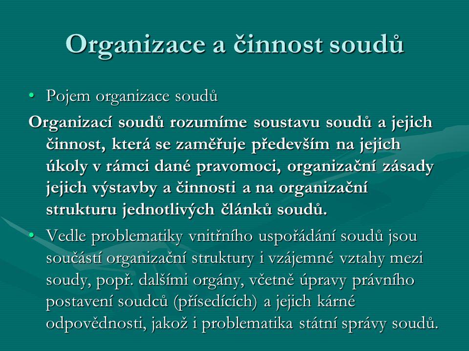 Organizace a činnost soudů