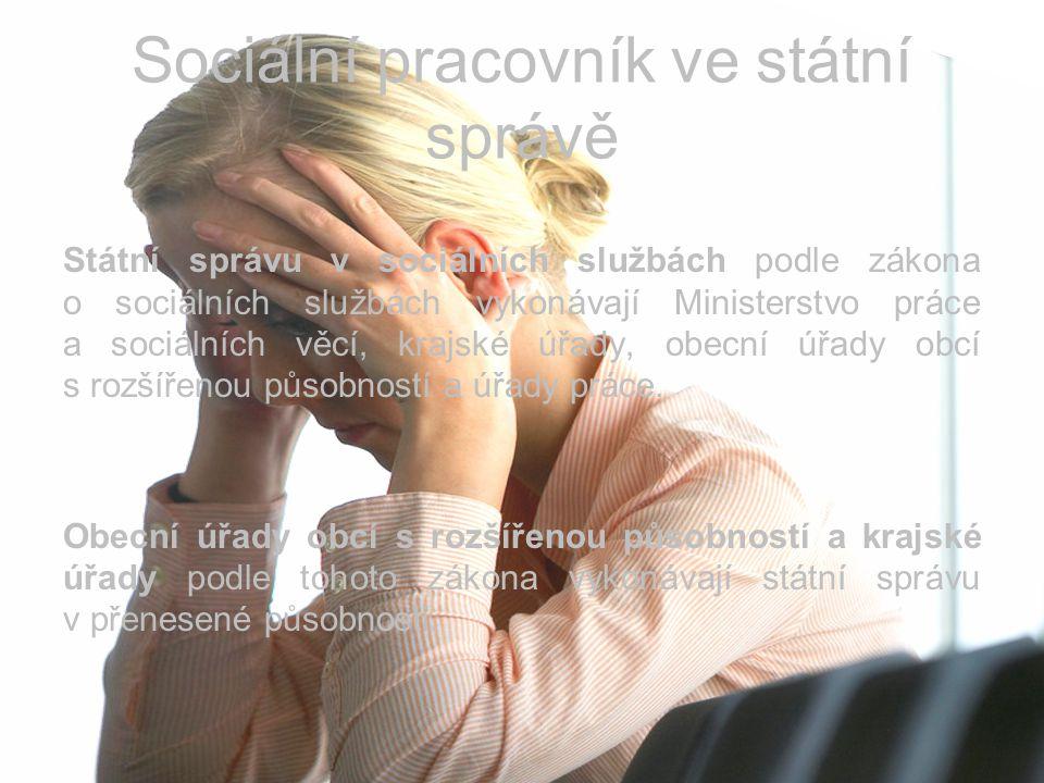 Sociální pracovník ve státní správě