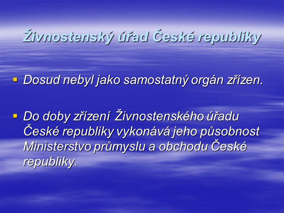 Živnostenský úřad České republiky