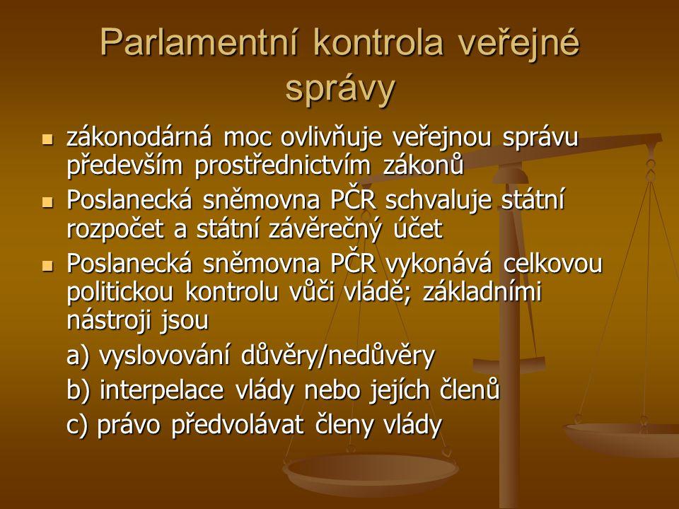 Parlamentní kontrola veřejné správy