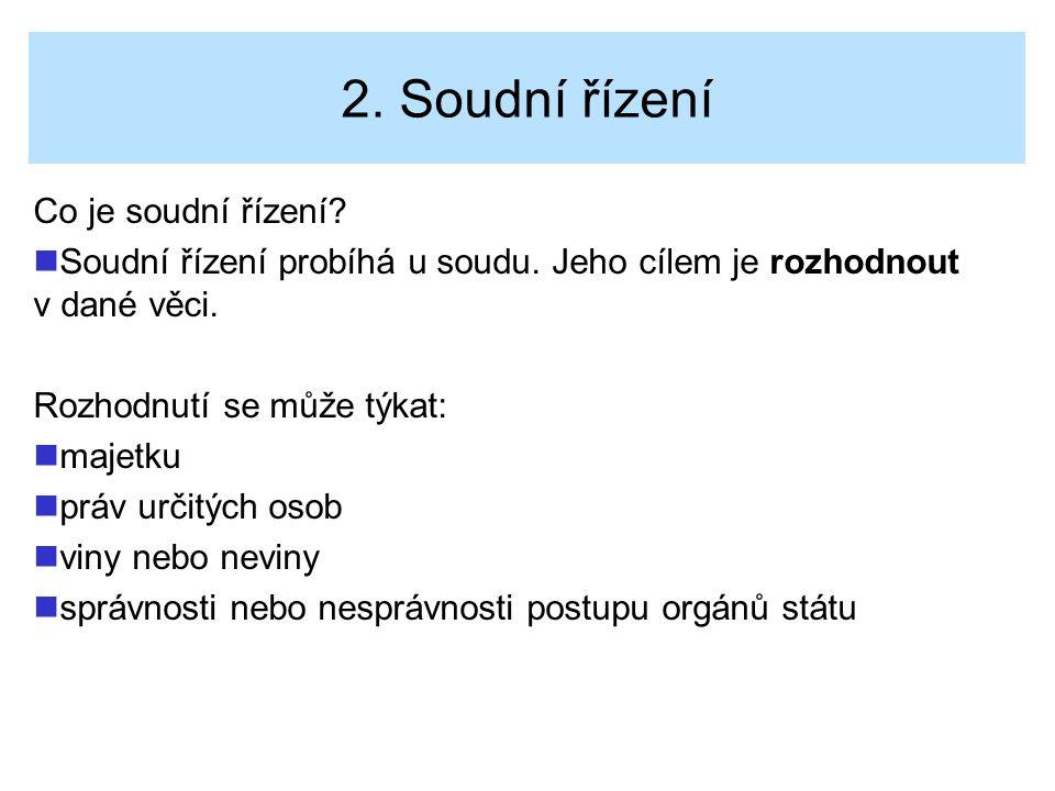 2. Soudní řízení Co je soudní řízení