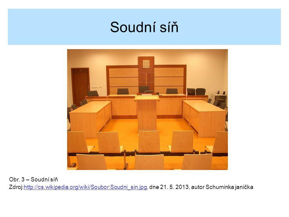 Soudní síň Obr. 3 – Soudní síň