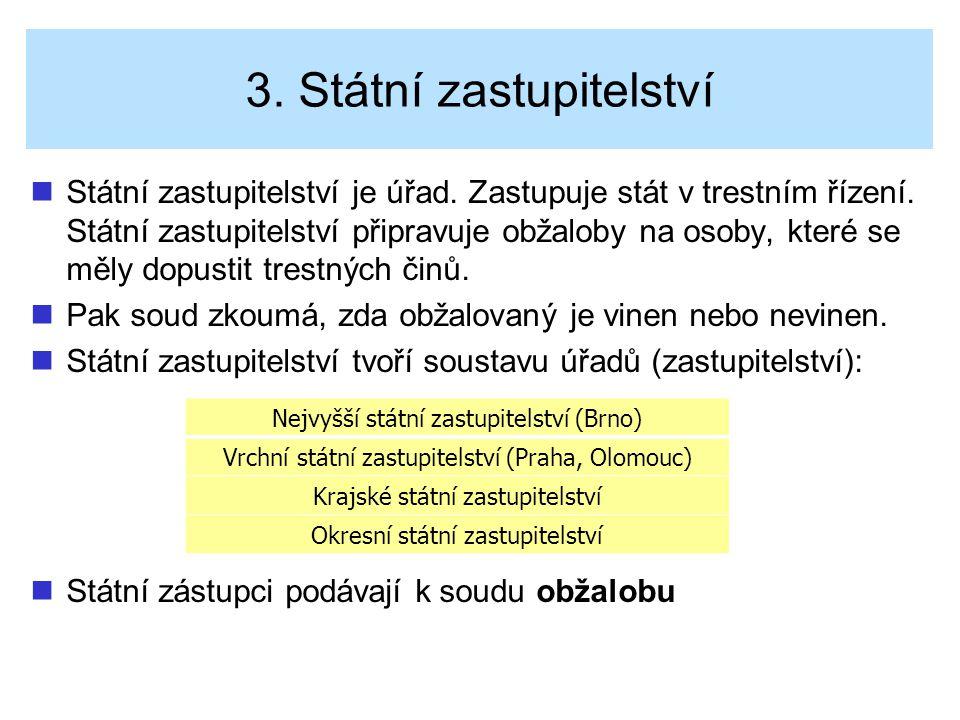 3. Státní zastupitelství