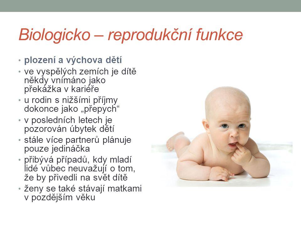 Biologicko – reprodukční funkce