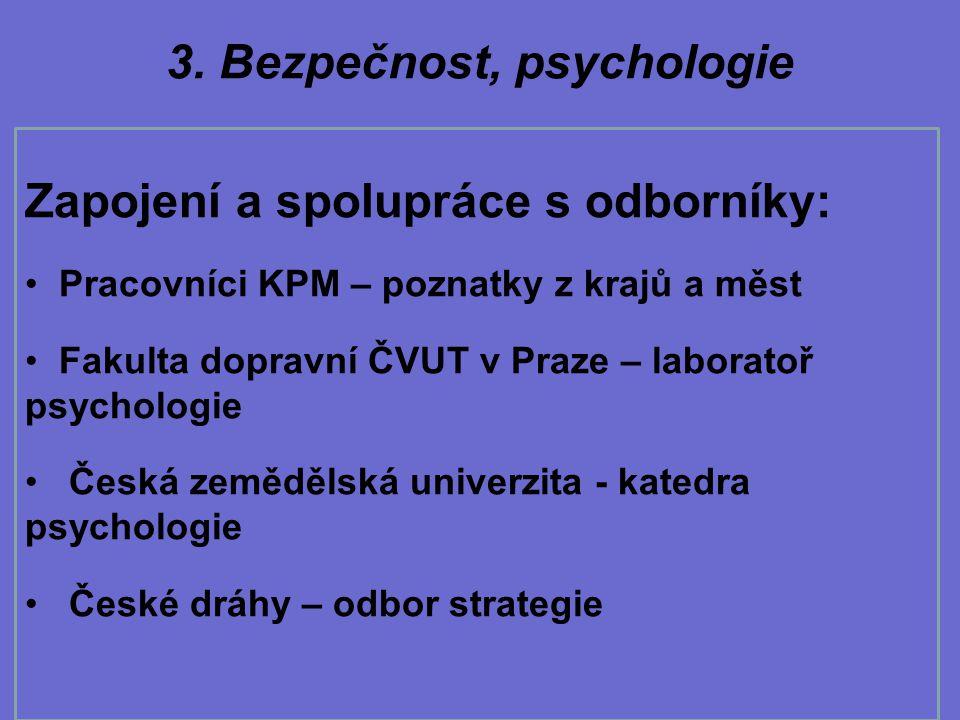3. Bezpečnost, psychologie