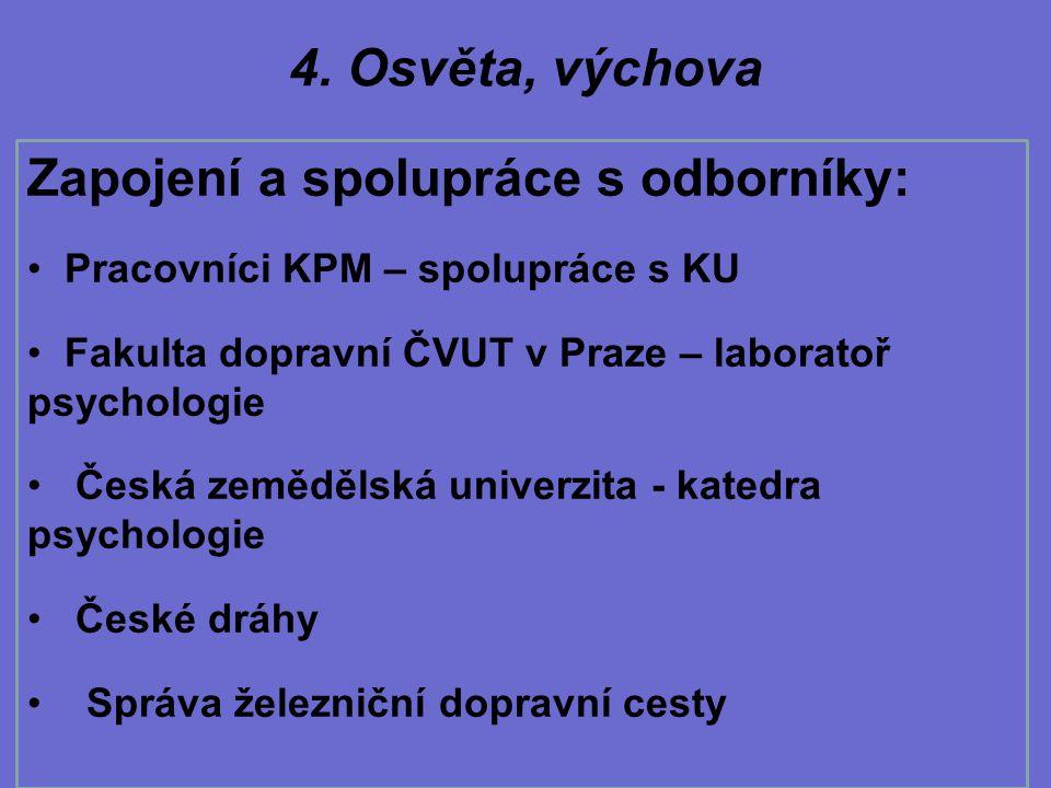 Zapojení a spolupráce s odborníky: