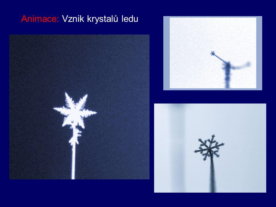 Animace: Vznik krystalů ledu