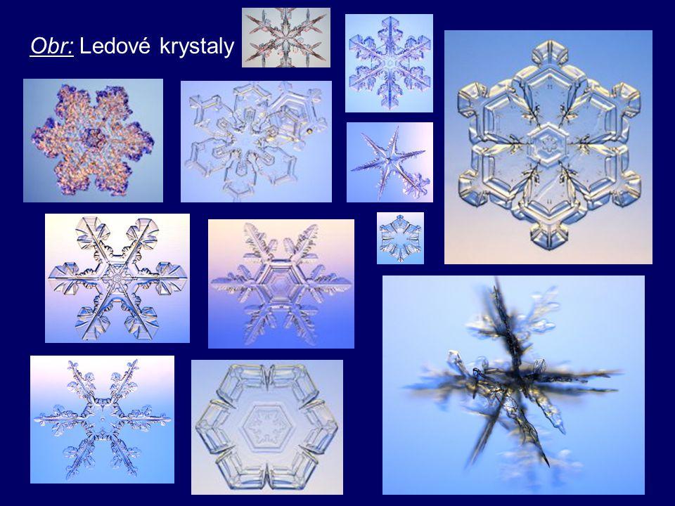 Obr: Ledové krystaly