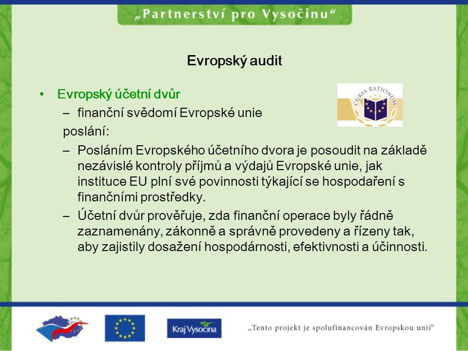 Evropský audit Evropský účetní dvůr finanční svědomí Evropské unie