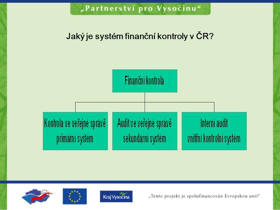 Jaký je systém finanční kontroly v ČR
