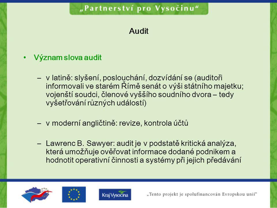 Audit Význam slova audit
