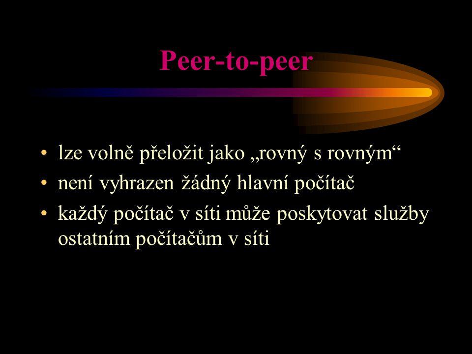 """Peer-to-peer lze volně přeložit jako """"rovný s rovným"""