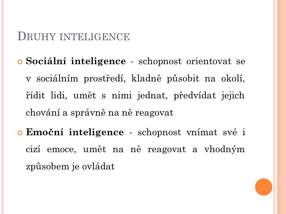 Druhy inteligence
