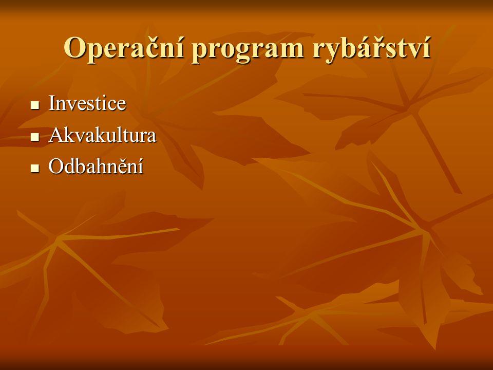 Operační program rybářství