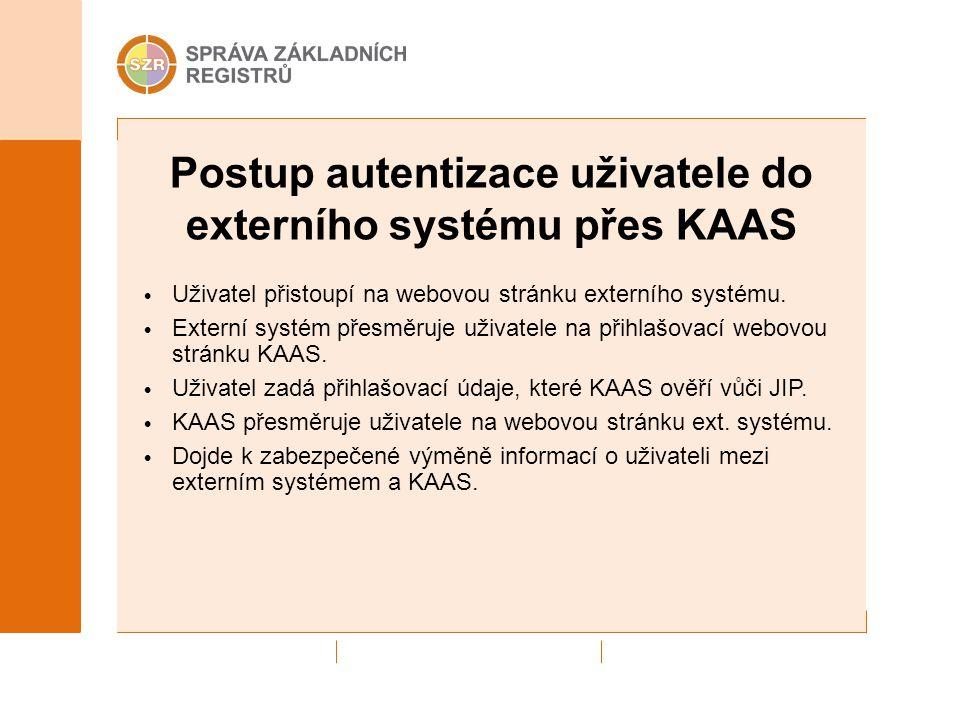 Postup autentizace uživatele do externího systému přes KAAS