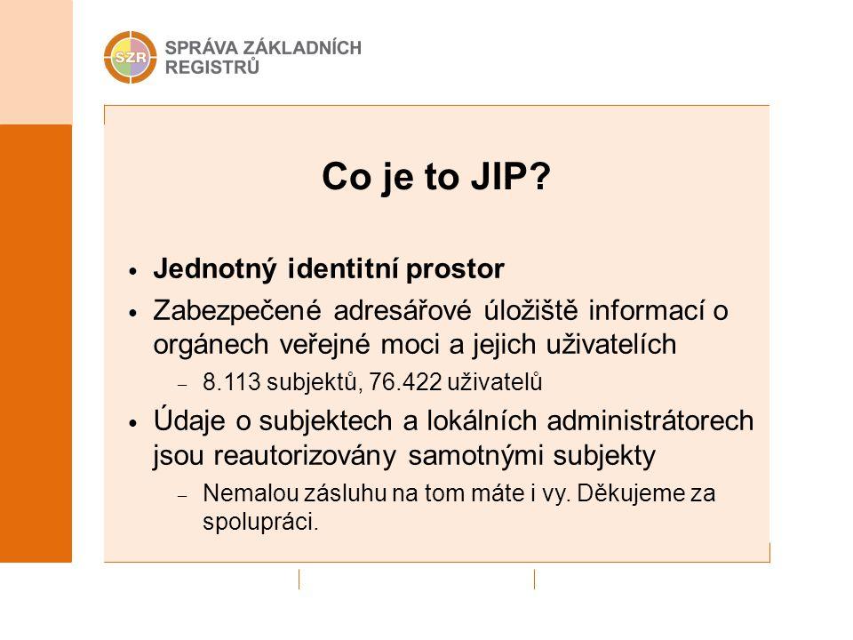 Co je to JIP Jednotný identitní prostor
