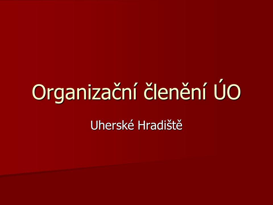 Organizační členění ÚO