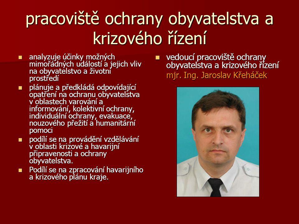 pracoviště ochrany obyvatelstva a krizového řízení