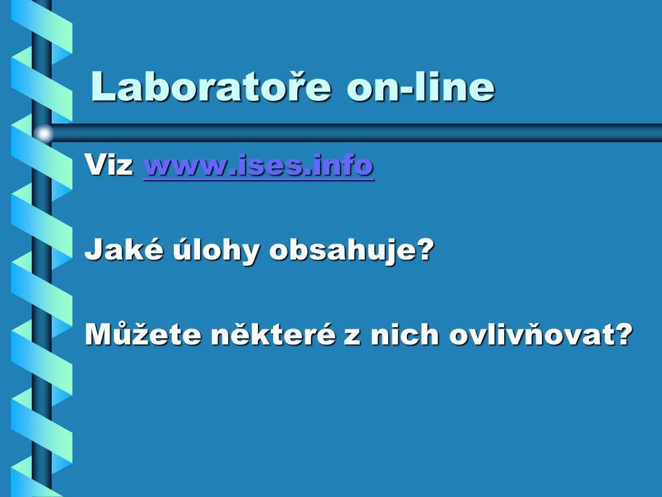 Laboratoře on-line Viz www.ises.info Jaké úlohy obsahuje