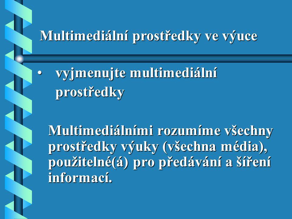 Multimediální prostředky ve výuce