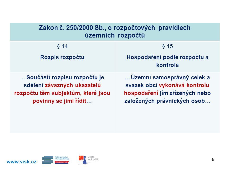 Zákon č. 250/2000 Sb., o rozpočtových pravidlech územních rozpočtů