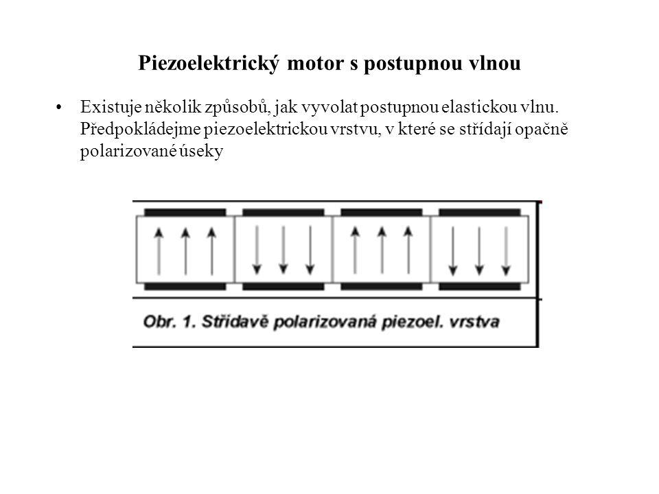Piezoelektrický motor s postupnou vlnou