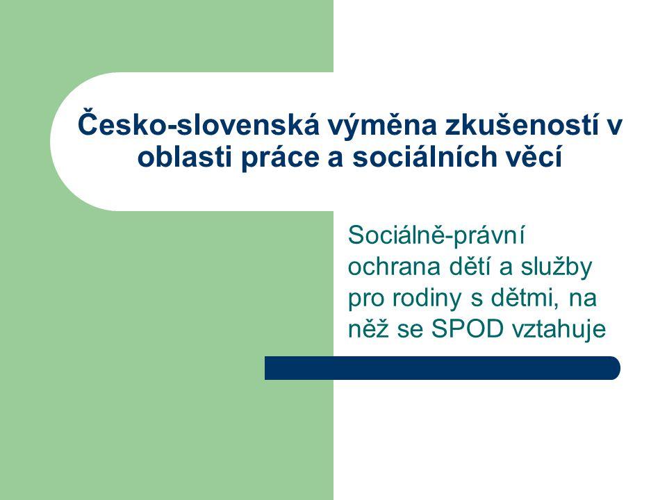Česko-slovenská výměna zkušeností v oblasti práce a sociálních věcí
