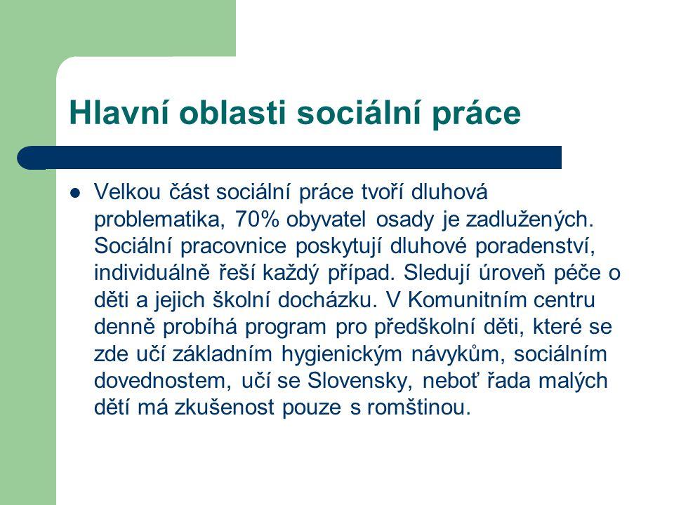 Hlavní oblasti sociální práce