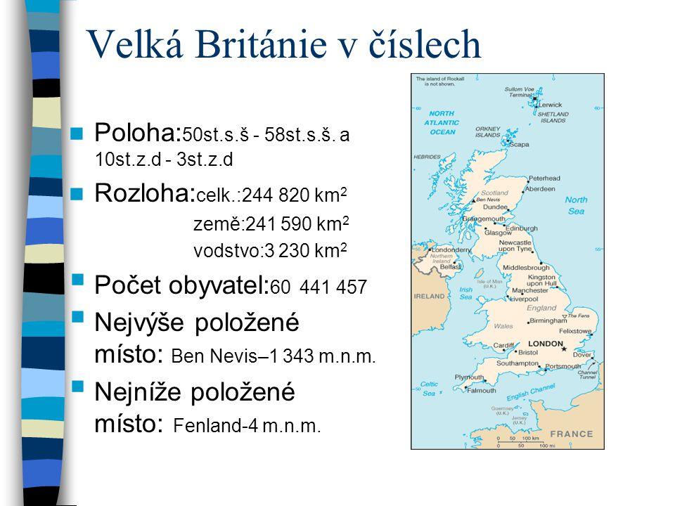 Velká Británie v číslech