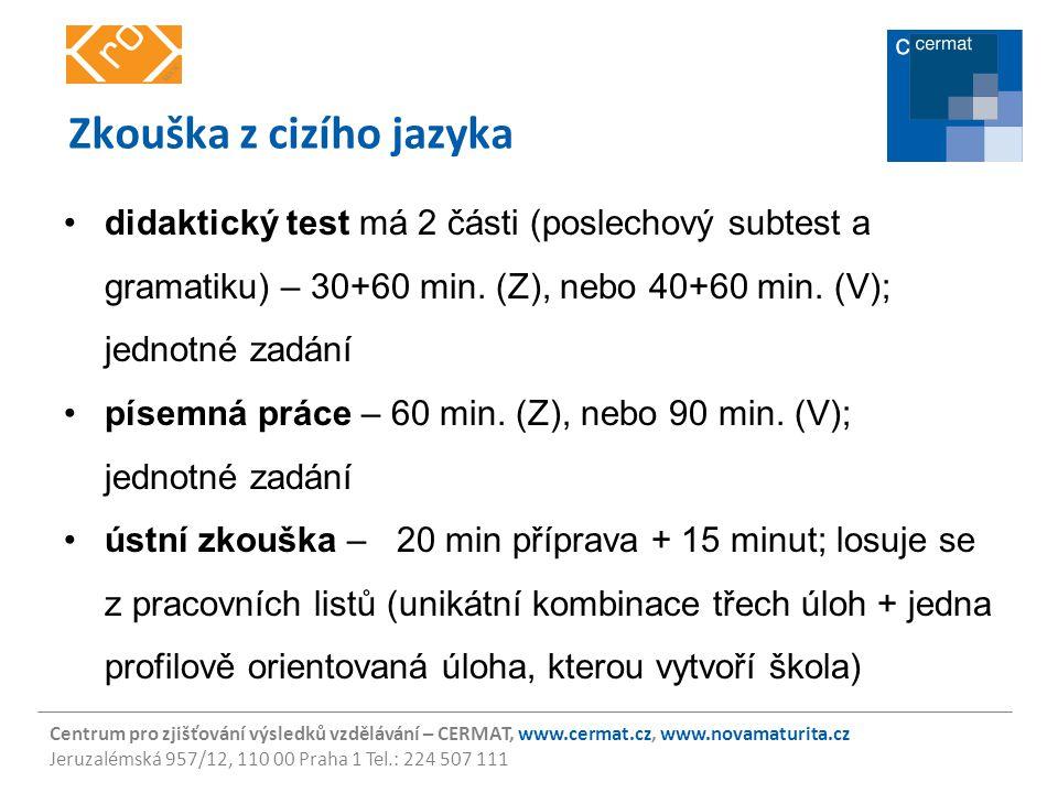 Zkouška z cizího jazyka