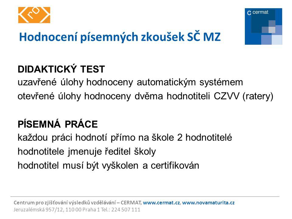 Hodnocení písemných zkoušek SČ MZ